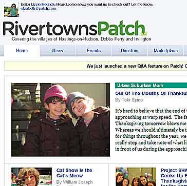 A portion of a Patch home page